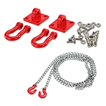 MagiDeal RC Crawler 1:10 Tow Hook & Trailer Chain for Axial SCX10 RC4wd D90 D110 TF2
