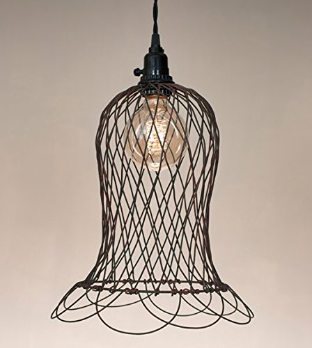 - Bell Shaped Wire Pendant Light