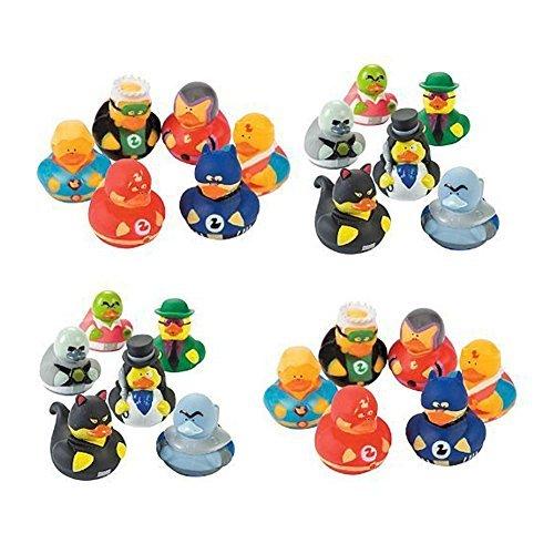 24 Rubber Ducks Superhero & Villian Rubber Ducks, Perfect Birthday Party Favors, Cake Toppers, - Rubber Ducks Superhero