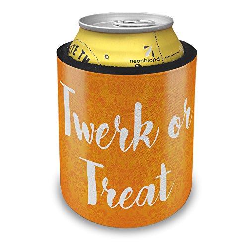 NEONBLOND Twerk or Treat Halloween Orange Wallpaper Slap Can Cooler Insulator Sleeve