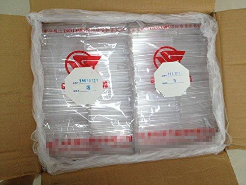 Lot de 50 tubes /à essai en plastique transparent de 11 ml avec bouchons de li/ège Disponible en diff/érentes tailles 15 x 100/mm