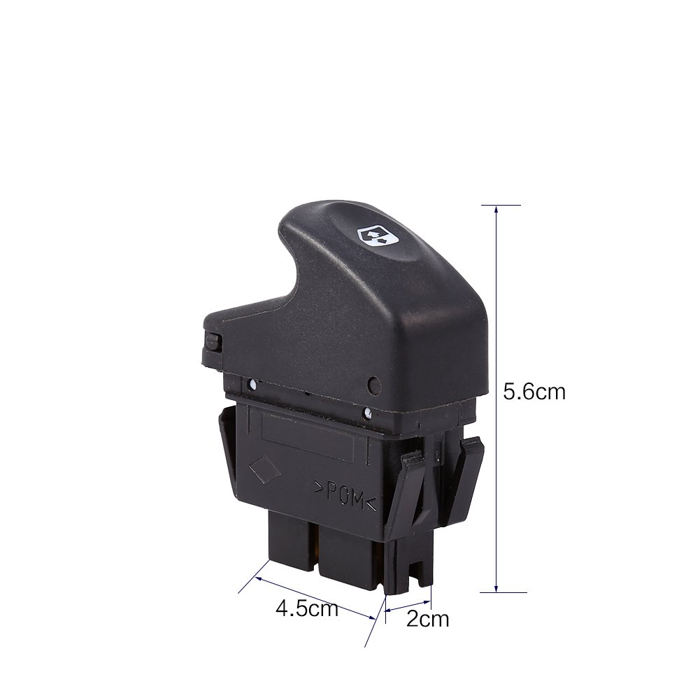 Qiilu 6 Pins Bouton Interrupteur Leve Vitre Commutateur De Fen/être De Commande