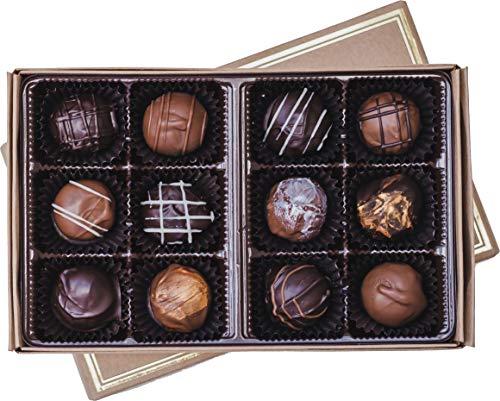 Handmade, Artisan Chocolate Truffles - Gourmet Dark Chocolate Truffles & Milk Chocolate Truffles - Chocolate Truffle Assortment by Cocoa Mill Chocolate