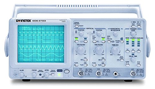 table Analog Oscilloscope with 100MHz Frequency Counter, 100MHz Bandwidth, 2 Channels, Timebase Auto-Range Function, CRT with 16kV Accelerating Potential (Sweep Oscilloscope)