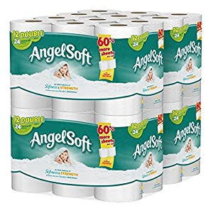 51Jz2dULT9L. AA300  - Angel Smooth 2 Ply Rest room Paper, 48 Double Tub Tissue (Pack of four with 12 rolls every)