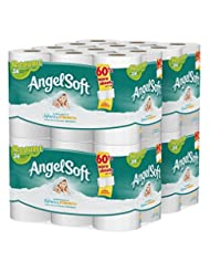 Angel Soft 2 Ply Toilet Paper, 48 Double Bath Tissue (Pack of...