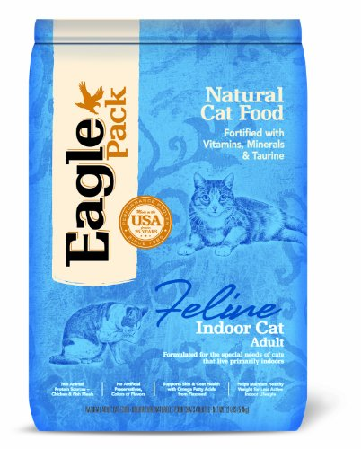 Eagle Pack Natural Pet Food, Indoor Formula for Cats, 12-Pound Bag, My Pet Supplies
