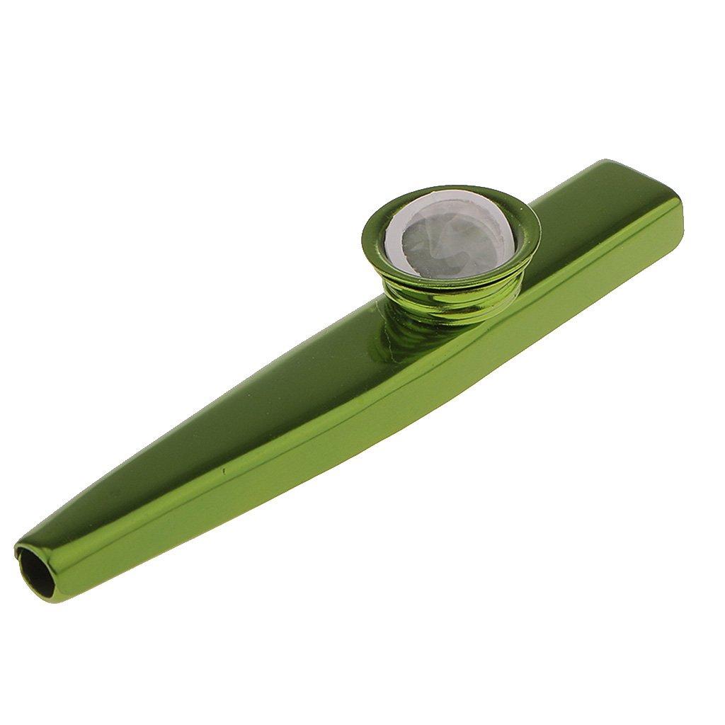 MonkeyJack Aluminium Alloy Kazoo Harmonica Mouth Flute Kids Party Xmas Gift Musical Instrument - Green