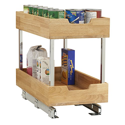 Household Essentials 24221-1 Glidez 2-Tier Sliding Organizer - Pull Out Cabinet Shelf - Wood - 11.5 Inches Wide by Household Essentials (Image #1)