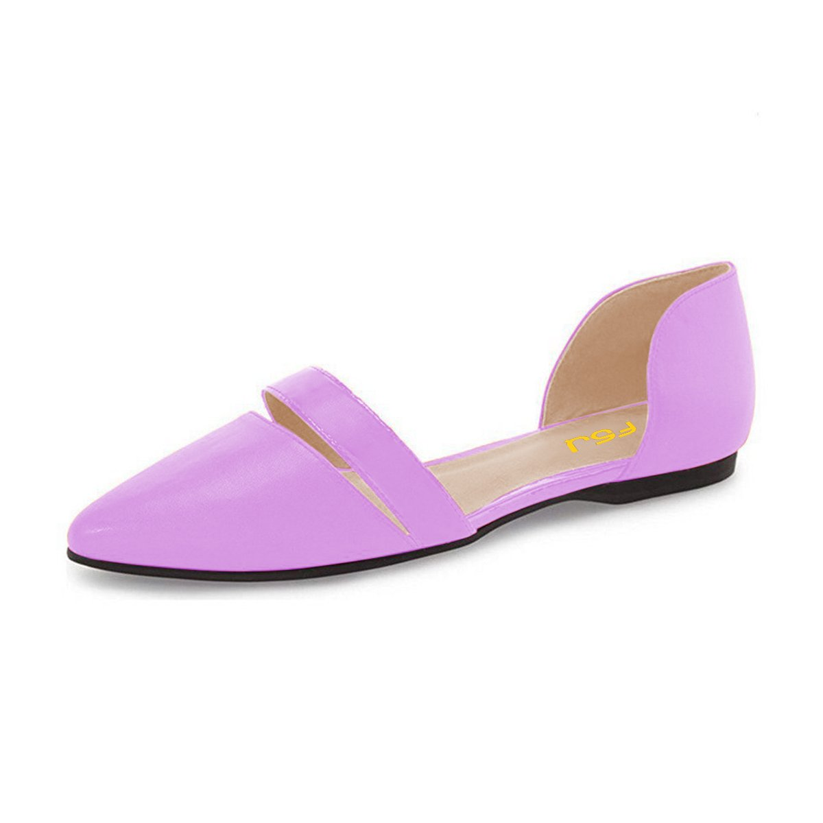 FSJ Women Cute D'Orsay Ballet Toe Flats for Comfort Pointed Toe Ballet Low Heels Dress Shoes Size 4-15 US B06Y4CTL7F 4 B(M) US|Purple 66a6d2