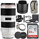 Canon EF 70-200mm f/2.8L IS II USM Zoom Lens, Polaroid Canon EOS Macro Extension Tube Set, Lexar 32GB Card, Ritz Gear Cleaning Kit & Accessory Bundle