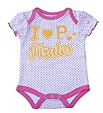 Pittsburgh Pirates Infant Girl's Size 18 Months I Love Pirates Onesie Bodysuit - Pink Polka Dots Print Creeper