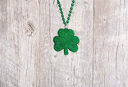 CSFOTO 8x6ft Background for Clover Necklace on Rustic