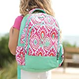 Embroidered Pink and Mint Backpack for Girls