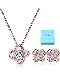 Bridal Jewelry Set for Women - Crystal Cubic Zirconia...