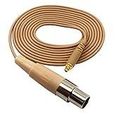Mini XLR TA3F Microdot Detachable Cable for JK MIC-J 082S 071S Headset Headworn Microphone - AKG SAMSON Wireless