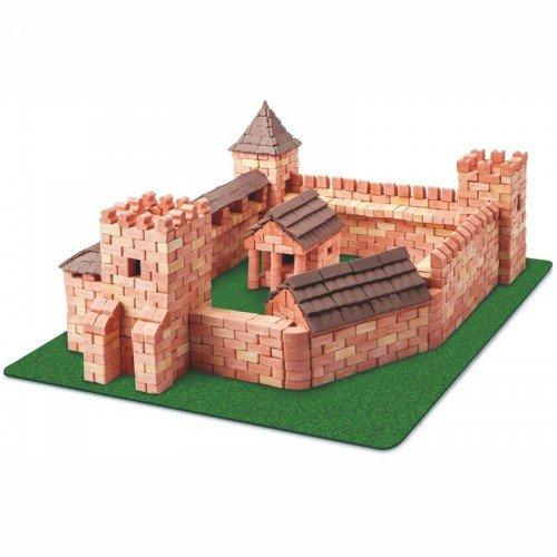 Wise Elk Toy Red Castle construction set, real plaster bricks, gypsum reusable building kit, 1800 pcs, educational gift