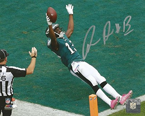 """Eagles Nelson Agholor Autographed 16"""" x 20"""" Football Photo"""