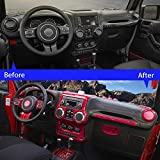 RT-TCZ Full Set Interior Decoration Trim Kit,Trim For Jeep Wrangler JK JKU 2011-2017 4 Door