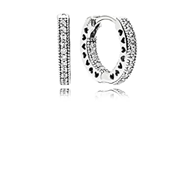e33631789 pandora twist of fate with clear cz hoop earrings best online for sale
