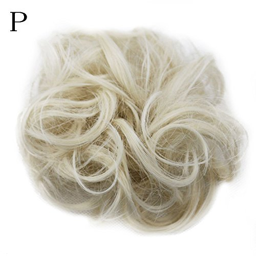 DEESEE(TM)❧❧Women's Curly Messy Bun Hair Twirl Piece Scrunchie Wigs Extensions Hairdressing (P)