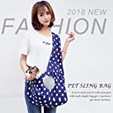 Pet Sling Carrier Bag, Aolvo Comfortable Soft Pet Dog Cat Sling Carrier Tote Bag, Breathable Mesh, Adjustable Padded Shoulder Strap,Suit for Small Animals Puppy Rabbit Kitten Dog Less Than 16 Ibs