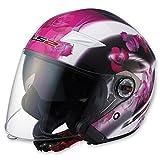 LS2 Helmets OF569 Open Face Helmet (Floral Pink, X-Small)