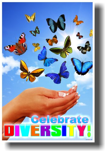 Celebrate Diversity - Classroom Motivational Poster