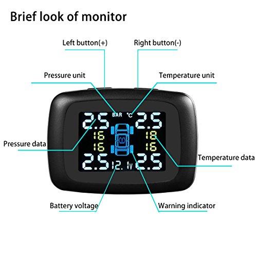 B Qtech Diy Tire Pressure Monitoring System Wireless Tpms