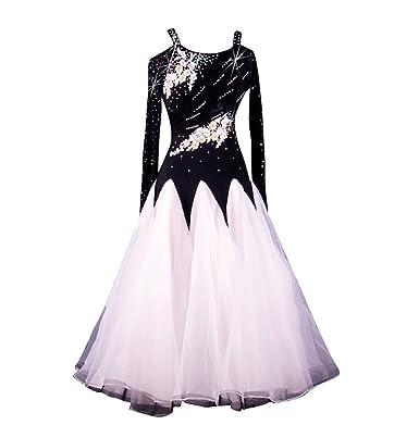 02e9d32bf YC WELL Women Modern Waltz Tango Smooth Ballroom Dance Dress Standard Ballroom  Dress (S)