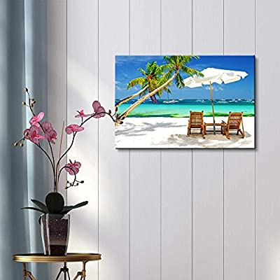 Tropical Vacation at The Beach - Canvas Art Wall Art - 32