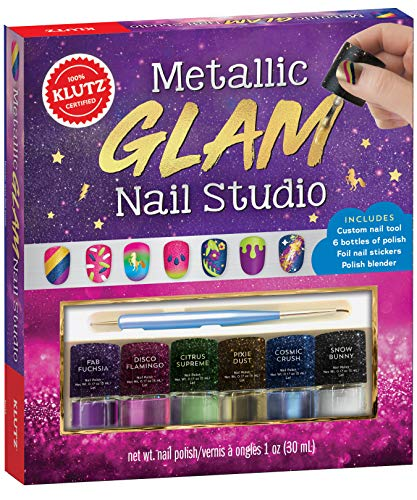 Klutz Metallic Glam Nail Studio, Nail Art Kit