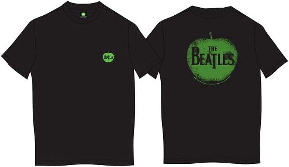Beatles Men's The in Apple T-Shirt Black