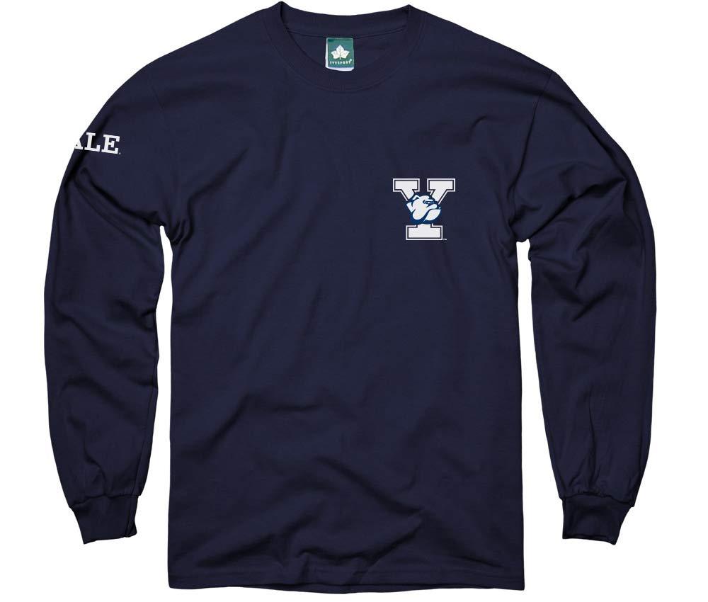 【レビューで送料無料】 エール大学長袖Tシャツby B01N1LAAWF Ivysport Ivysport – マスコットロゴ、100コットン –、ネイビー、長袖Tシャツ Small ネイビー B01N1LAAWF, Foot&Rain デポ:e8a258ec --- a0267596.xsph.ru