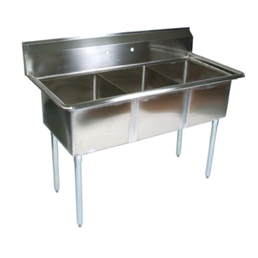 John Boos E3S8-24-14 E Series 3 Compartment Sink