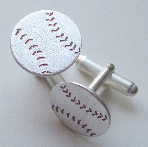 Cufflinks Baseball Stitches - Baseball Cufflinks