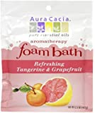 Aura Cacia Aromatherapy Foam Bath, Refreshing Tangerine and Grapefruit, 2.5 ounce packet (Pack of 3)