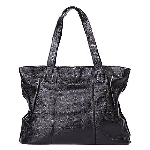 Leathario womens soft leather tote bag handbag shoulder bag satchel