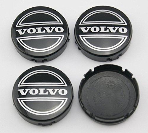 Ycsm 4 piezas 64 mm negro Hub tapa central para aplicar a Volvo: Amazon.es: Coche y moto