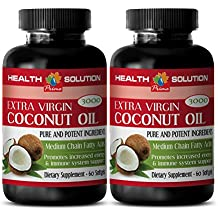 weight loss essential oil - COCONUT OIL 3000MG - EXTRA VIRGIN - PURE AND POTENT INGREDIENTS - coconut oil keto - 2 Bottles (120 Softgels)