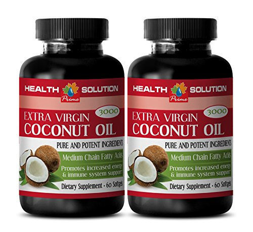 weight loss for women - COCONUT OIL 3000MG - EXTRA VIRGIN - PURE AND POTENT INGREDIENTS - coconut oil in capsules - 2 Bottles (120 Softgels) by Health Solution Prime