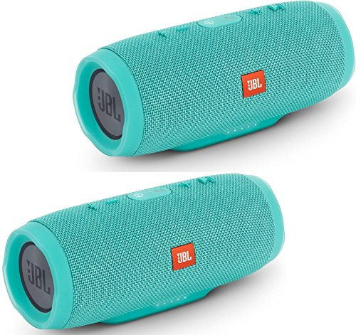 jbl-charge-3-waterproof-portable-bluetooth-speaker-pair-teal-teal