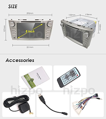 Hizpo Car DVD Player for Toyota Camry 2007 2008 2009 2010