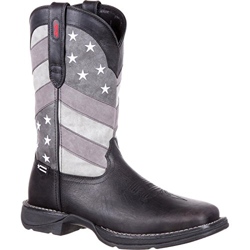 Durango Men's DDB0125 Western Boot, Black Charcoal Grey, 10 M US