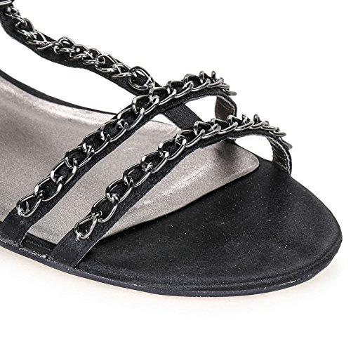 PRENDIMI by Scarpe&Scarpe - Sandalias bajas con cadenas Negro