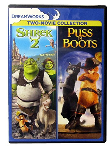 Shrek 2 / Puss In Boots - Both DreamWorks Full Feature Animated Films (Milwaukee 1 2 Cordless Drill)