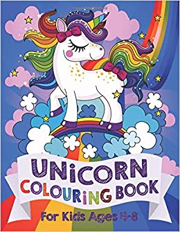 Unicorn Colouring Book: For Kids ages 4-8: Amazon.co.uk: Silly Bear ...