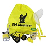 4 7 whistle - Outdoor Kids Adventure Kit for Boys & Girls Ages 4-12. Set Includes Butterfly net, Quality Whistle, Flashlight, Binoculars, Magnifying Glass, Carry Bag. Perfect for Scouts, Camping, Science