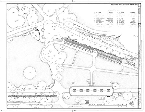Historic Pictoric Blueprint Diagram HABS NY,60-POHI,1C- (Sheet 1 of 4) - Kykuit, Orangerie & Greenhouse, 200 Lake Road, Pocantico Hills, Westchester County, NY 44in x 32in