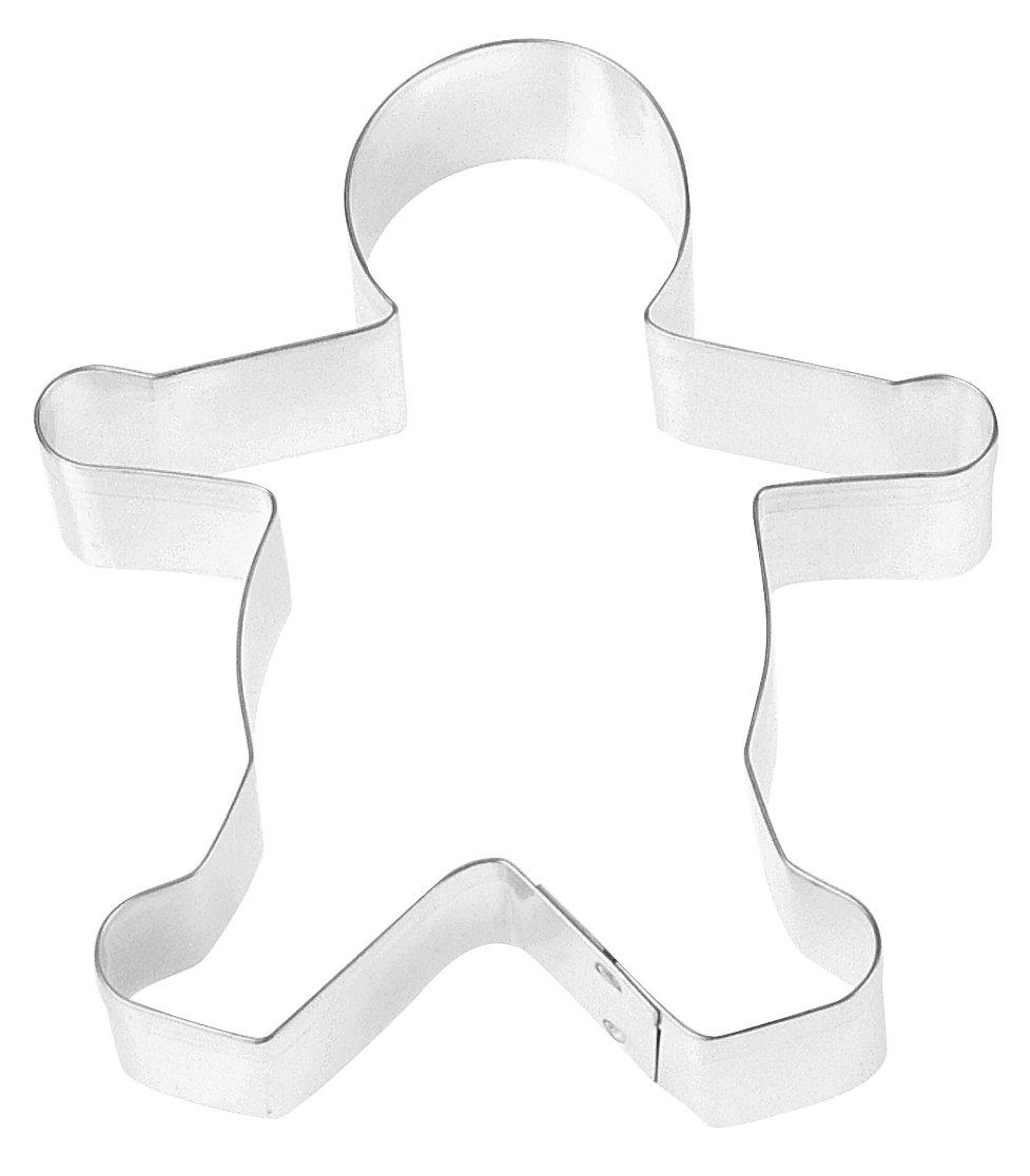 Fox Run 3303 Gingerbread Boy Cookie Cutter, 5-Inch, Stainless Steel